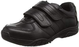 Toughees Shoes Boys' Chivers Double Velcro Comfort Insole, (Black), 9 Child UK 27 EU