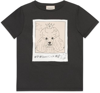 Gucci Children's #GucciClick print T-shirt