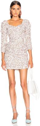 Nicholas Crossover Gathered Dress in Mango Poppy Multi | FWRD
