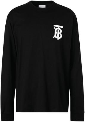 Burberry Tb Monogram Long-Sleeved T-Shirt