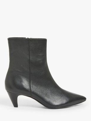John Lewis & Partners Paige Leather Ankle Boots, Black