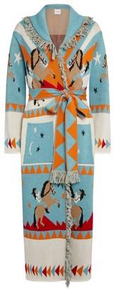 Hayley Menzies Jacquard Sunrise Rodeo Long Cardigan