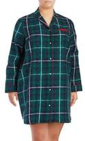 Lord & Taylor Plus Flannel Cotton Sleep Shirt