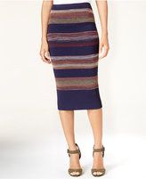 Rachel Roy Striped Textured Pencil Skirt