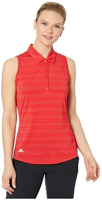 adidas Microdot Polo Sleeveless (Collegiate Red) Women's Clothing
