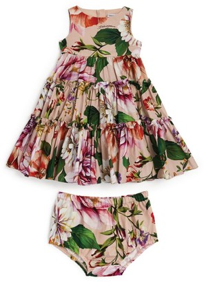 Dolce & Gabbana Kids Floral Ruffle Dress and Bloomers (3-30 Months)