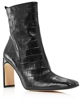 Miista Women's Marcelle Croc-Embossed High-Heel Boots