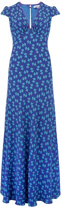 Libelula Long Tamara Dress Blue Hiawatha Print