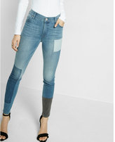 Express high waisted patch jean legging