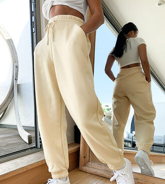 ASOS DESIGN Petite super oversized jogger in blonde