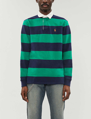 Polo Ralph Lauren Logo-embroidered cotton-jersey rugby shirt