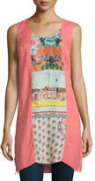 Johnny Was Patchwork Scoop-Neck Sleeveless Tunic, Plus Size