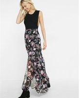 Express floral maxi skirt