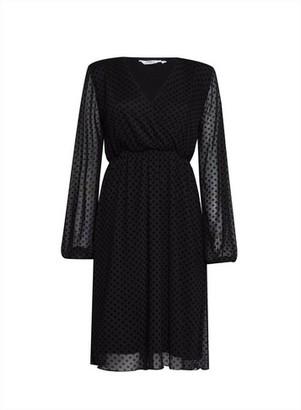 Dorothy Perkins Womens **Dp Tall Black Wrap Dress, Black