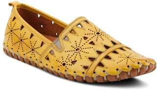 Spring Step Leather Slip-On Loafers - Fusaro