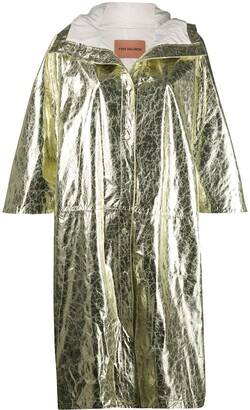 Yves Salomon Metallic-Effect Coat