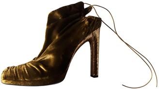 Gucci Green Velvet Heels