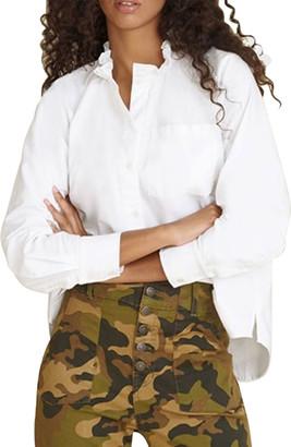 Veronica Beard Jeans Nella Ruffle-Collar Button-Down Shirt