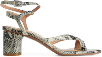 Arket Ankle-Wrap Leather Sandal