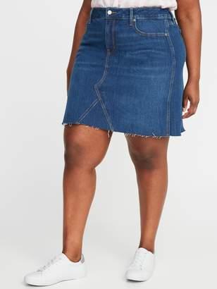 Old Navy High-Waisted Secret-Slim Pockets Plus-Size Jean Skirt