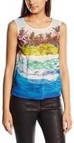 Yumi Women's Underwater Print Sleeveless Tops,Size