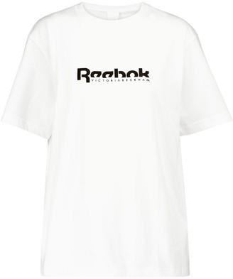 Reebok x Victoria Beckham Logo cotton jersey T-shirt