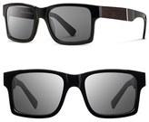 Shwood Men's 'Haystack' 52Mm Polarized Wood Sunglasses - Black/ Ebony/ Grey