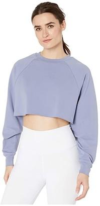 Alo Double Take Pullover (White) Women's Clothing