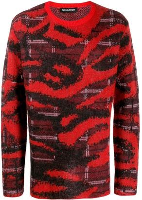 Neil Barrett mix pattern jumper