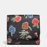 Coach Small Wallet In Daisy Field Print Coated Canvas
