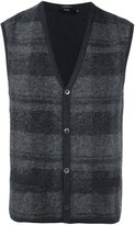 Boss Hugo Boss plaid cardigan vest