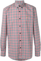 MAISON KITSUNÉ checked button down shirt - men - Cotton - 39