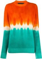 The Elder Statesman cashmere colour-block jumper