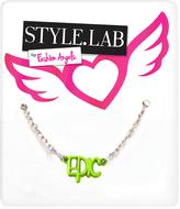 Fashion Angels Green & Silvertone 'Epic' Pendant Necklace