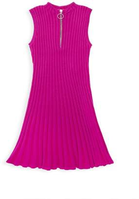 Milly Little Girl's & Girl's Zip-Front Ribbed Flare Dress