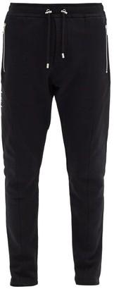 Balmain Logo-print Cotton-jersey Track Pants - Black