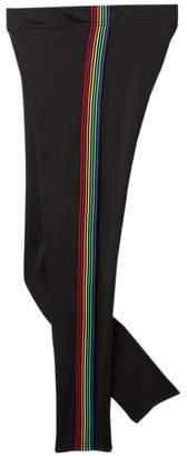 Just Me High-Waisted Rainbow Stripe Leggings