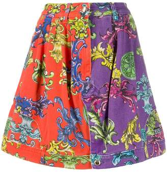Versace Baroque pattern skirt