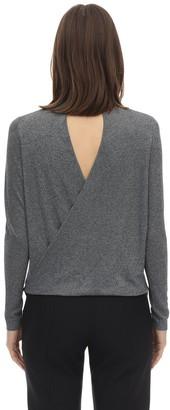 Karl Lagerfeld Paris Lurex Viscose Blend Knit Sweater