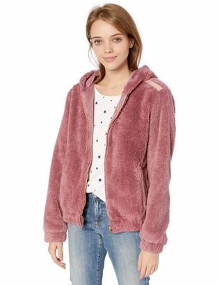Pink Platinum Women's Plus Size Shaggy Hoodie