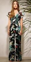 Adelyn Rae Flounce Twist Back Printed Jumpsuit