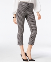 INC International Concepts Petite Printed Jacquard Cropped Pants, Created for Macy's