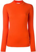 Courreges ribbed round neck sweater