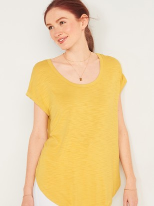 Old Navy Luxe Slub-Knit Scoop-Neck Tunic Tee for Women