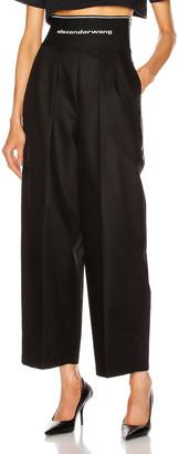 Alexander Wang Logo Elastic High Waisted Trouser in Black | FWRD