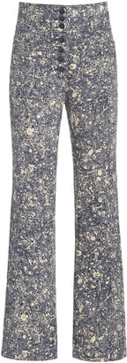 Ulla Johnson Mars High-Rise Cotton Straight-Leg Jeans