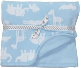Carter's Baby Boys 28 X 34 Reversible Blanket Blue Safari by