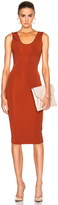 Victoria Beckham Dense Rib Tank Fitted Dress