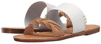 Soludos Braided Slide Sandal (White) Women's Sandals
