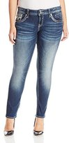 Vigoss Women's Plus-Size Chelsea Skinny Dark Wash Super Stretch